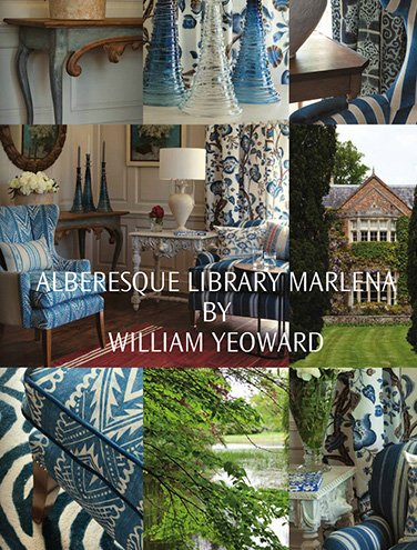 DESIGNERS GUILD ALBERESQUE LIBRARY MARLENA BY WILLIAM YEOWARD