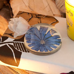 Blue Flower Paperweight - by John Derian