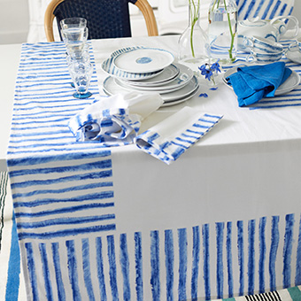 jinishi cobalt tablelinen