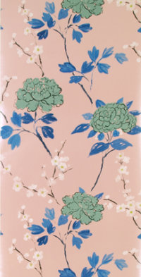 Printable image of the taisho blossom rose swatch
