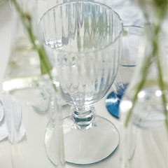 watelet glass - crystal clear stemmed glasses
