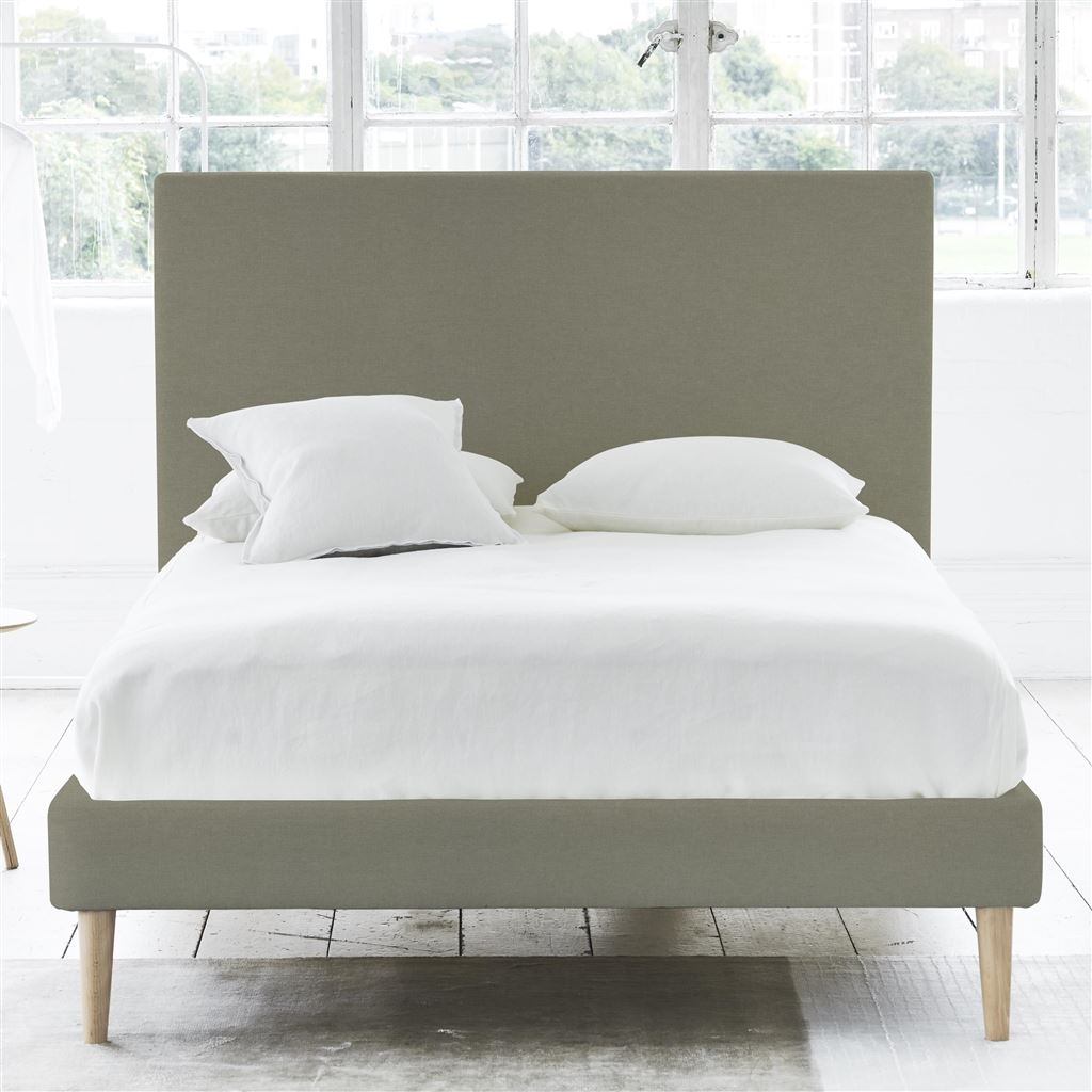 Square Bed - Single - Beech Leg Rothesay - Linen