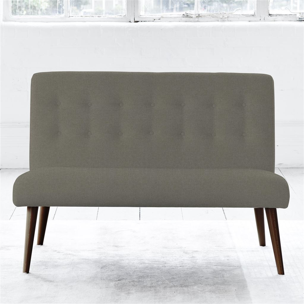 Eva Sofa - Self Button - Walnut Leg - Rothesay - Pumice