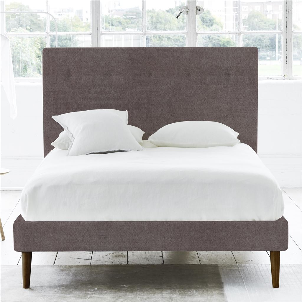Polka Bed Self Button - Single - Walnut Leg Zaragoza - Clover