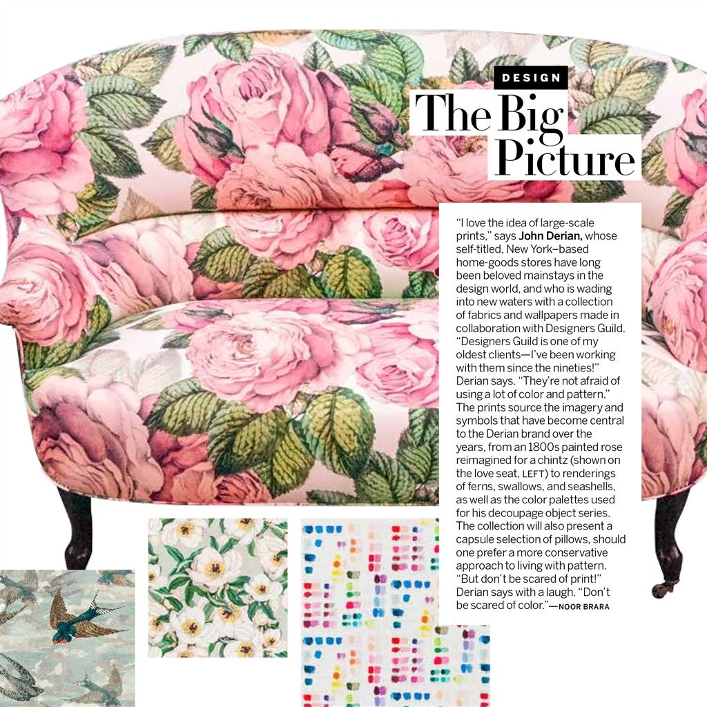John Derian feature in Vogue, USA