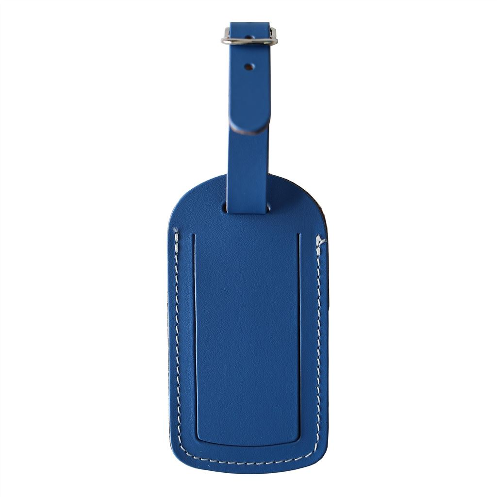 Leather Majorelle Blue Luggage Tag