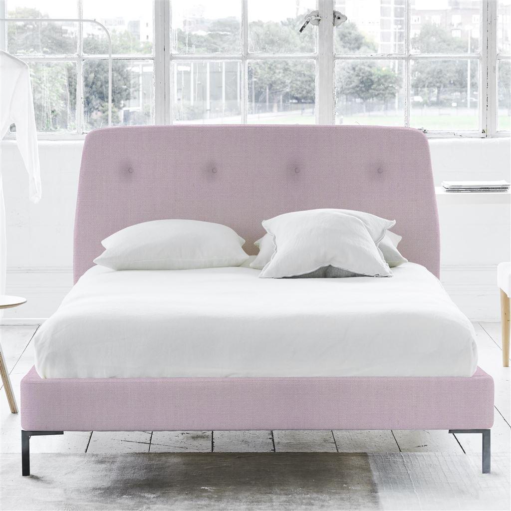 COSMO BED-SELF BUTTONS - KING - METAL LEG - BRERA LINO PALE ROSE
