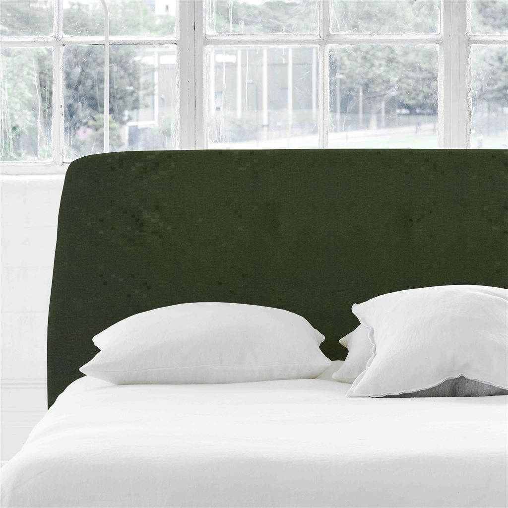 Cosmo King Headboard - Self Buttons - Cassia Fern - H107 x W161cm