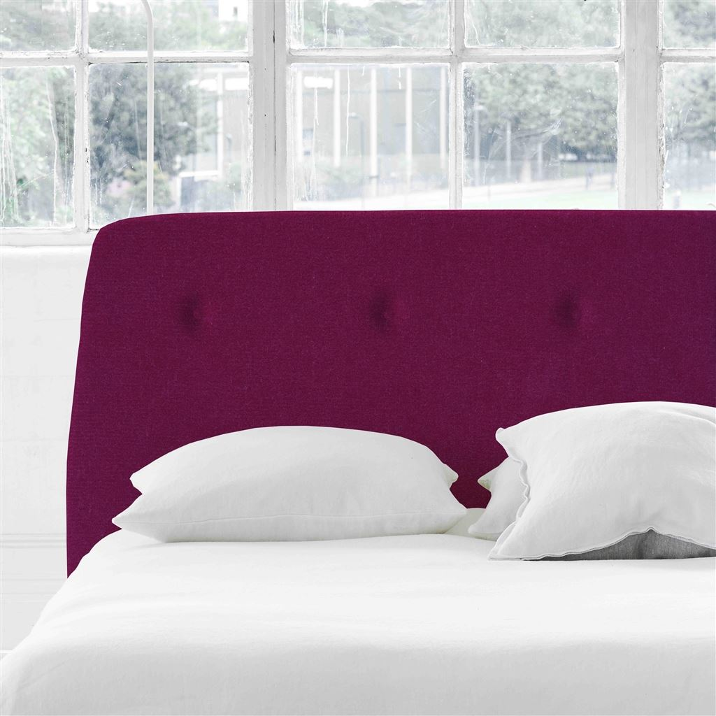 Cosmo Single Headboard - Self Buttons - Cassia Fuchsia - H107 x W100cm