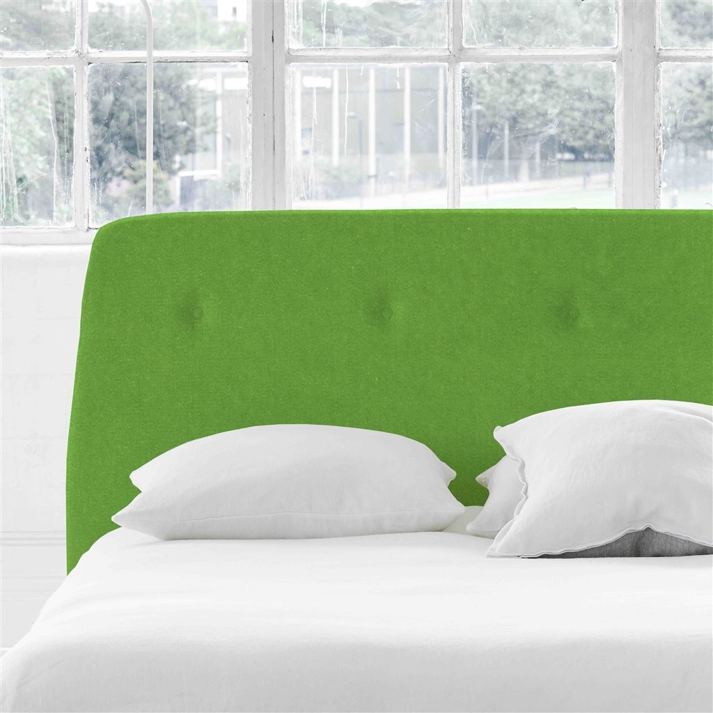 Cosmo Superking Headboard - Self Buttons - Cassia Grass - H107 x W193cm
