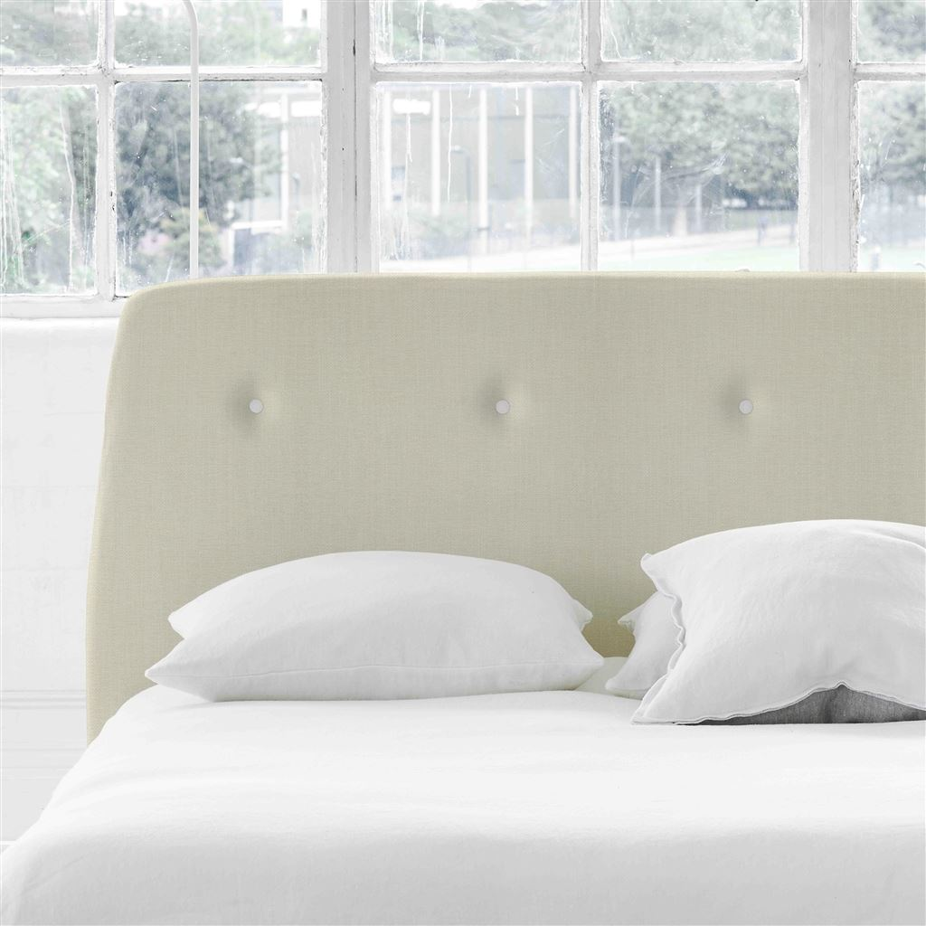 Cosmo King Headboard - White Buttons - Elrick Chalk - H107 x W161cm