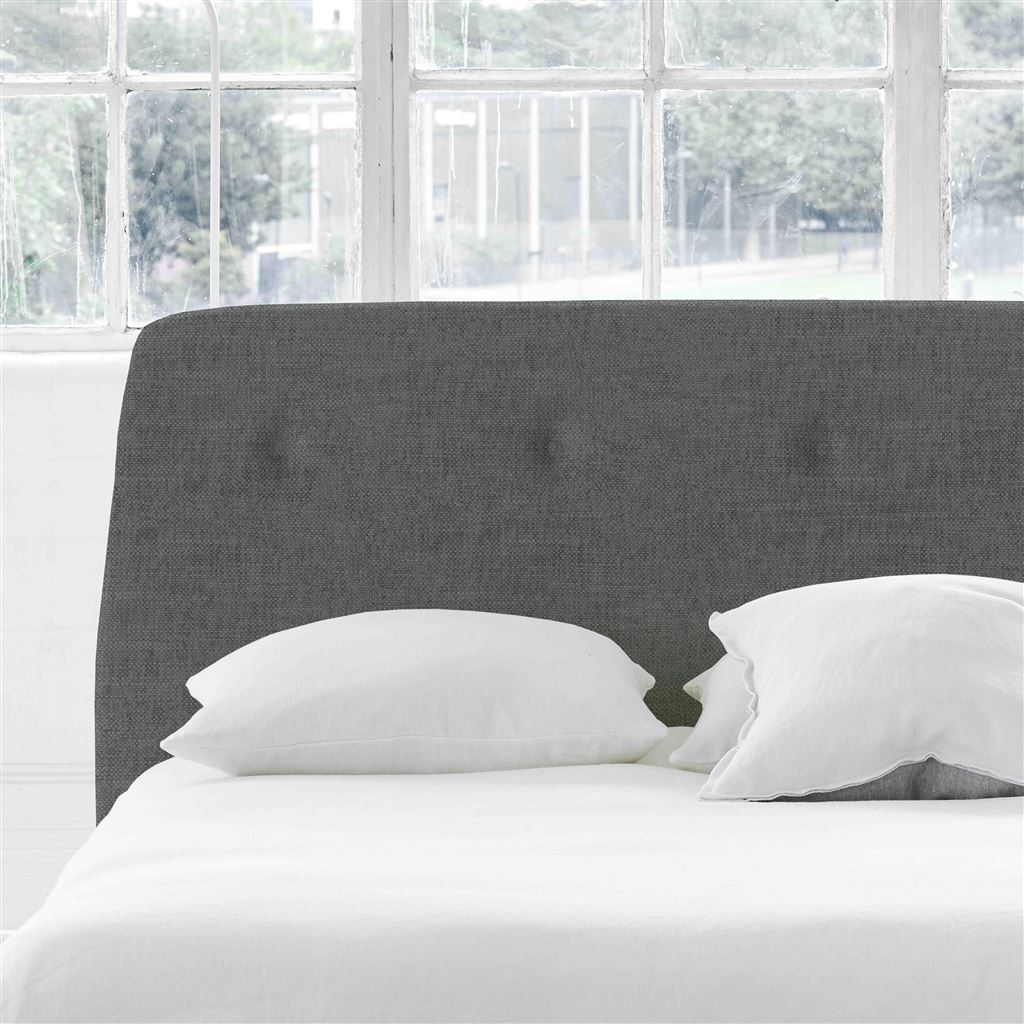 Cosmo King Headboard - Self Buttons - Elrick Steel - H107 x W161cm