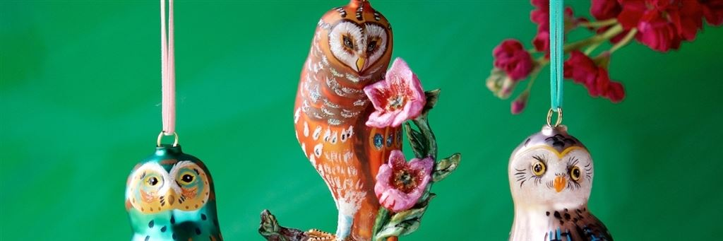 nathalie lete silver owl christmas decoration kr3341