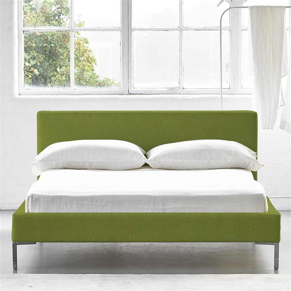 Square Bed Low - King - Metal Leg - Cassia Apple