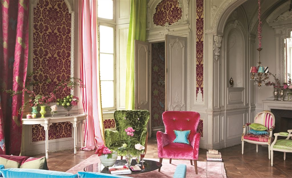 Ariana fabrics designers guild for Eclectisch interieur