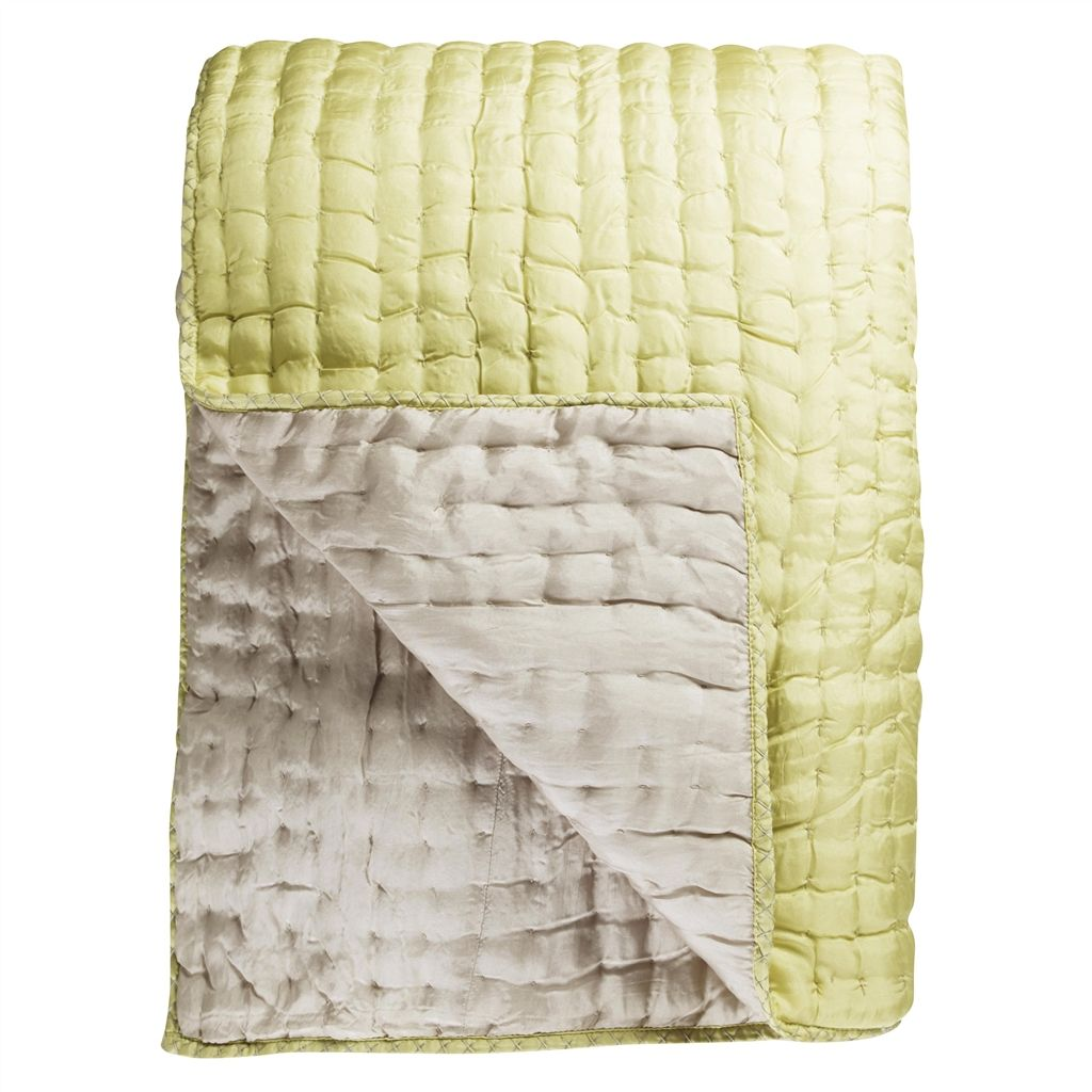 CHENEVARD QUILT SILVER and WILLOW QUILT  230X230CM