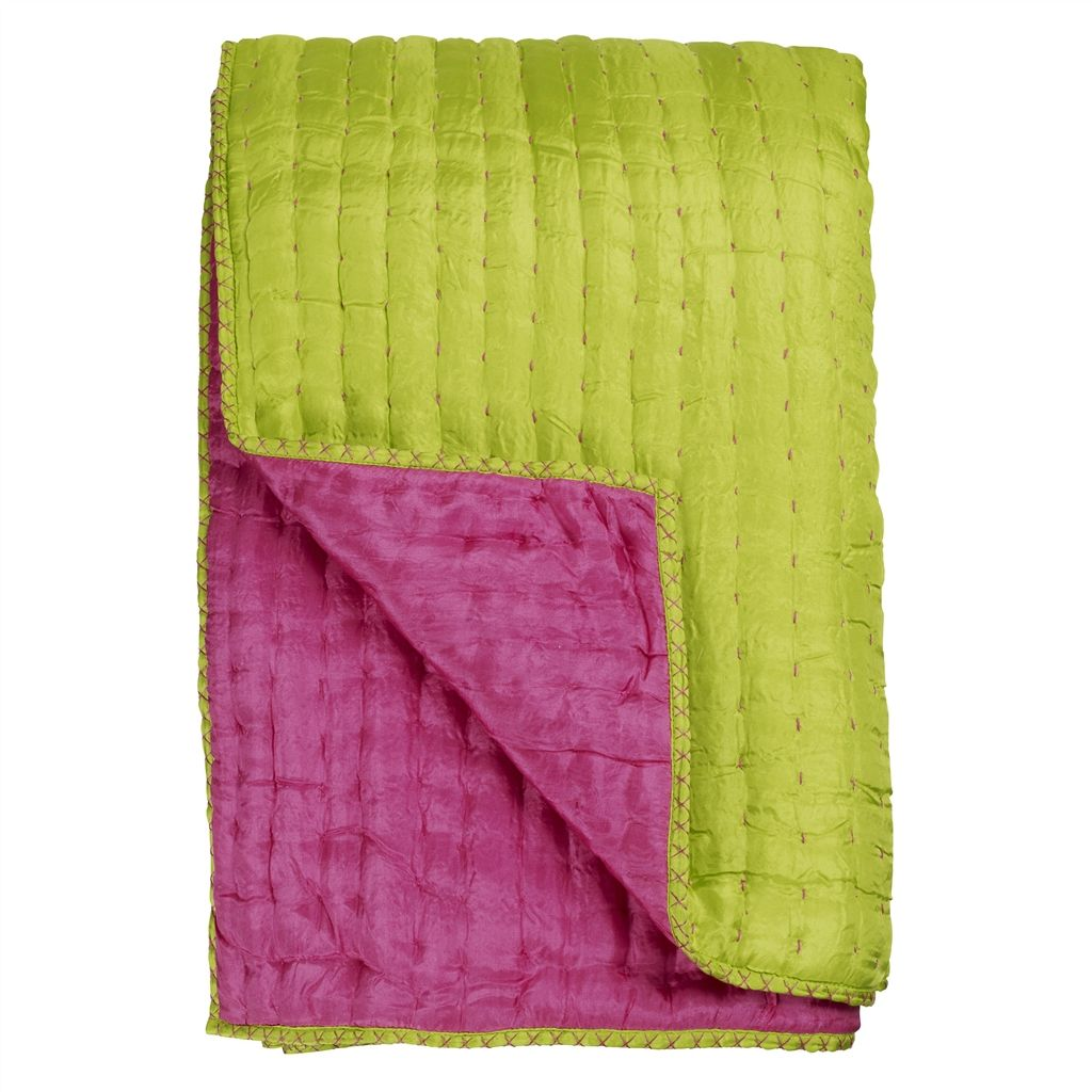 CHENEVARD FUCHSIA and LIME QUILT  240X260CM