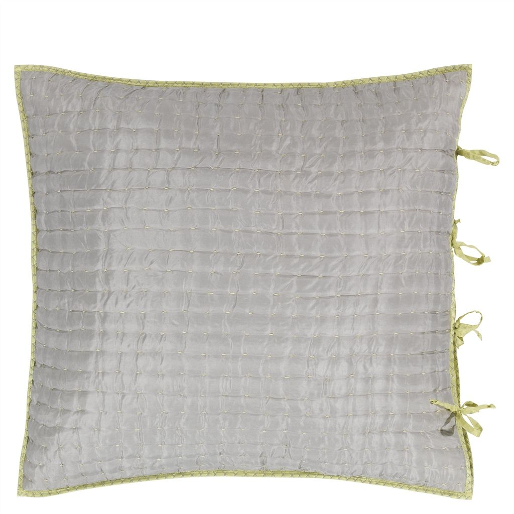 CHENEVARD EUROPEAN SILVER AND WILLOW CUSHION - 65X65CM