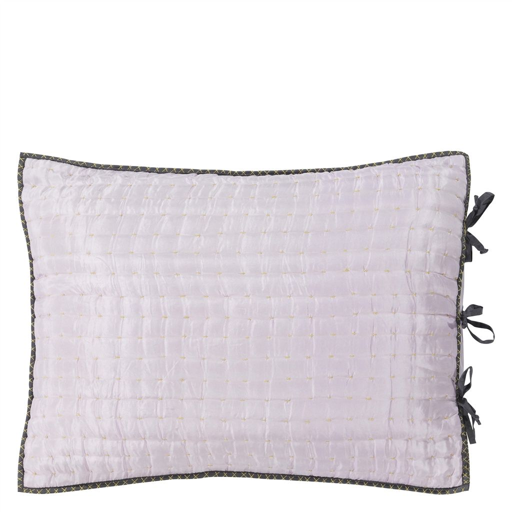 CHENEVARD QUEEN PALE ROSE AND SLATE CUSHION  50X75CM