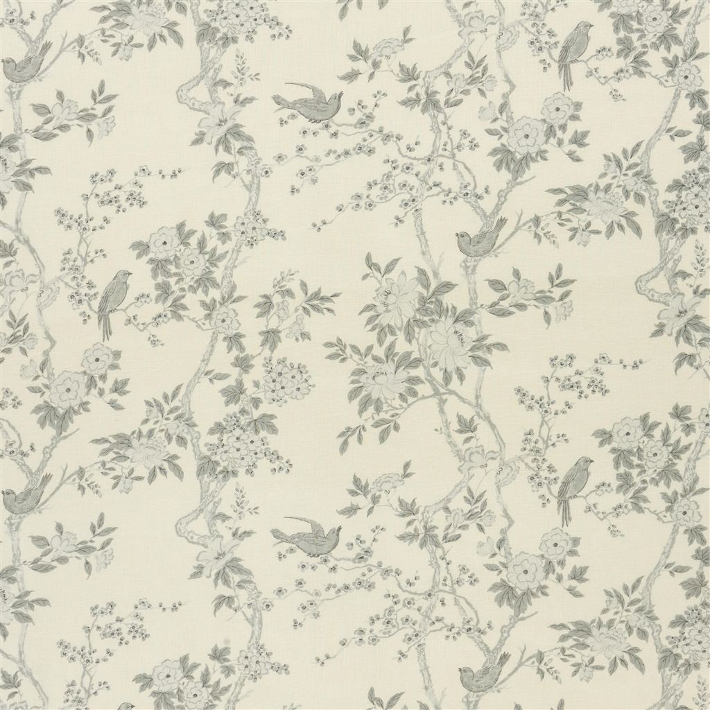 Marlowe Floral Voile Dove Fabric Ralph Lauren