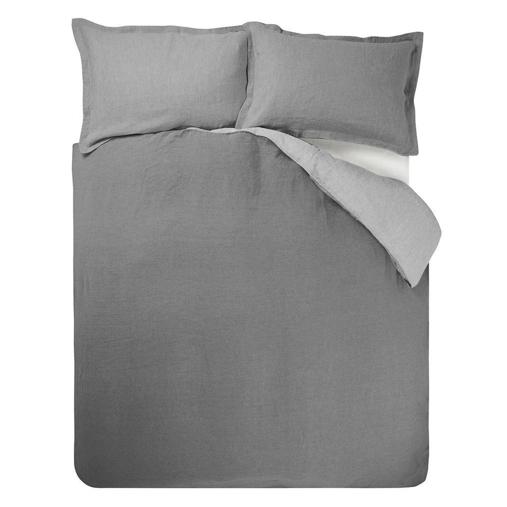 RETAIL BIELLA PALE GREY/DOVE SINGLE DUVET COVER 200X135 CM