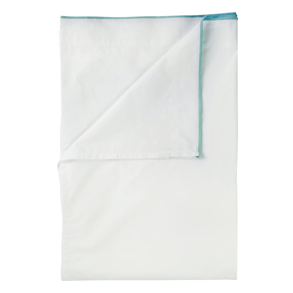 UK ASTOR TURQUOISE/AQUA KING FLAT SHEET 275X09 CM