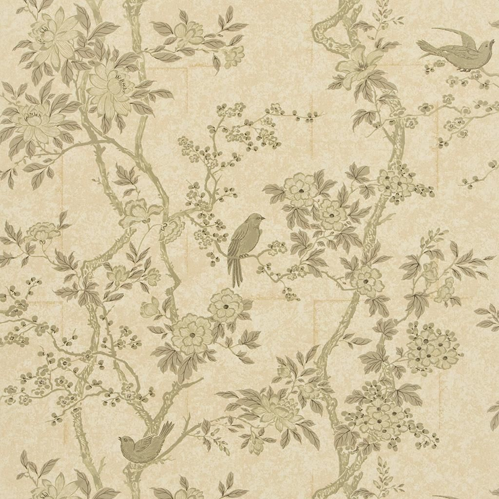 Marlowe Floral Mother Of Pearl Wallpaper Ralph Lauren