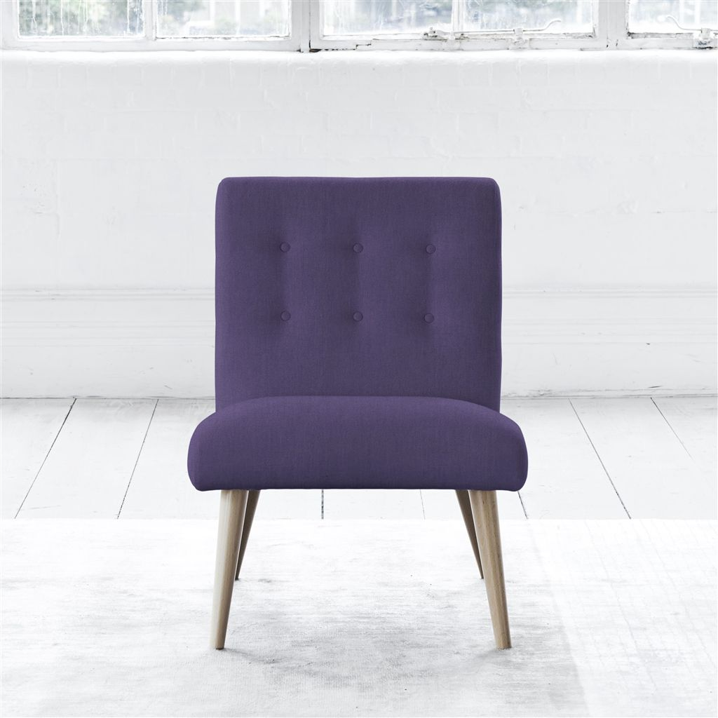 EVA CHAIR - SELF BUTTONS - BEECH LEG - BRERA LINO VIOLET