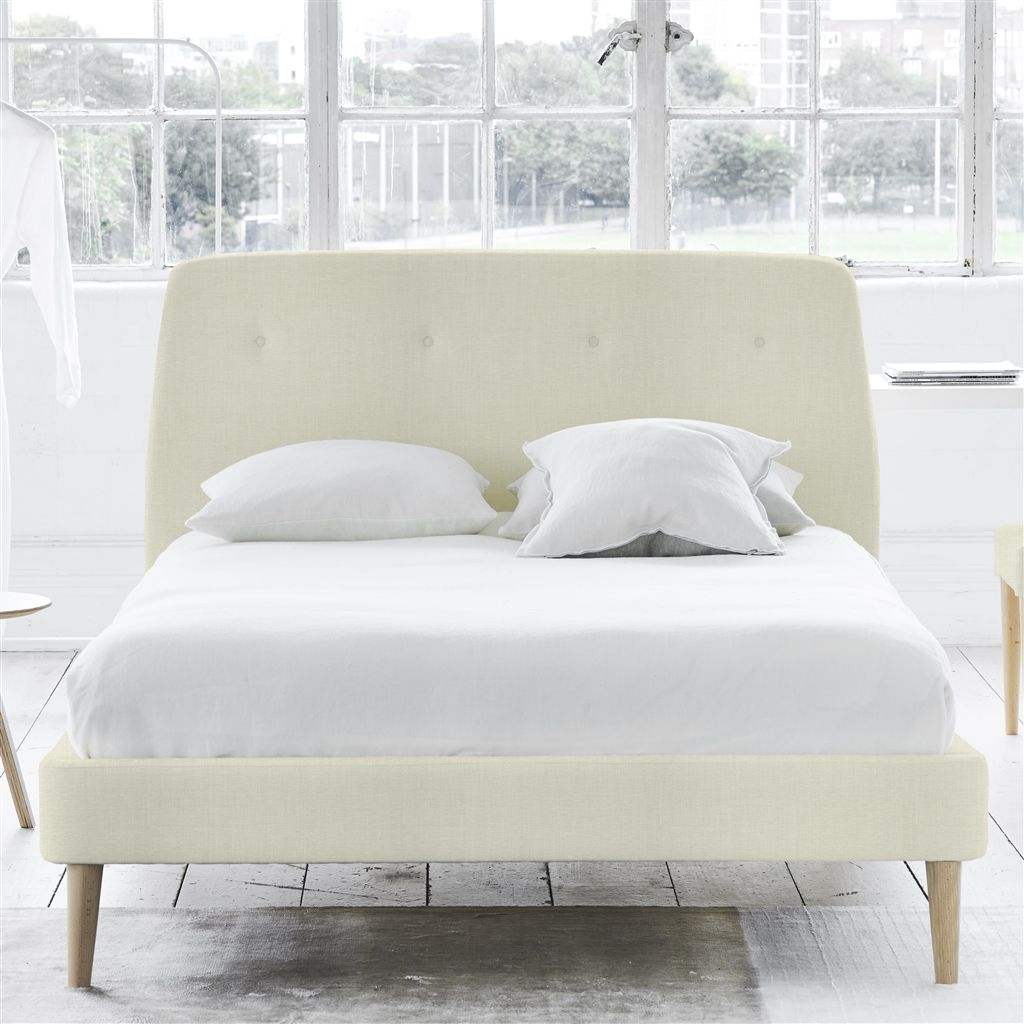 COSMO BED-SELF BUTTONS - DOUBLE - BEECH LEG - ELRICK CHALK