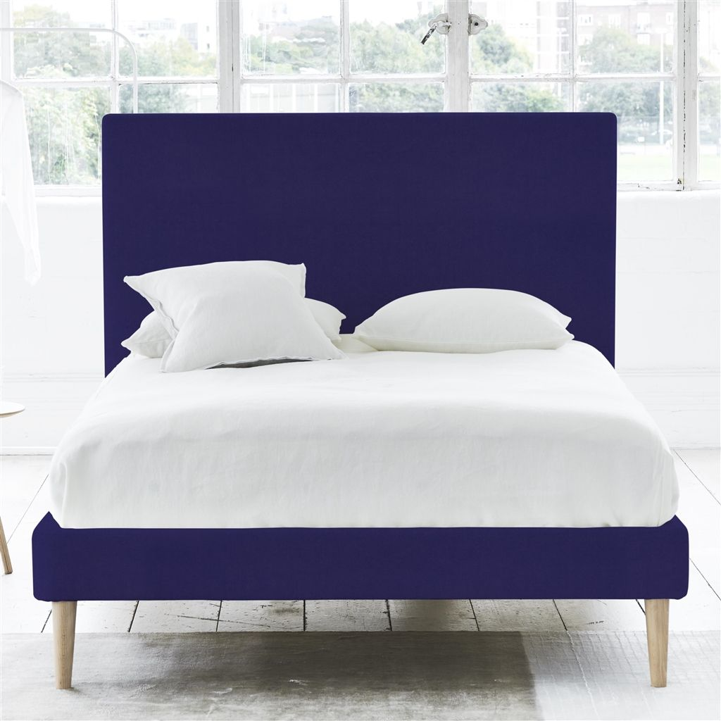 Square Bed - Double - Beech Leg - Cassia Dewberry