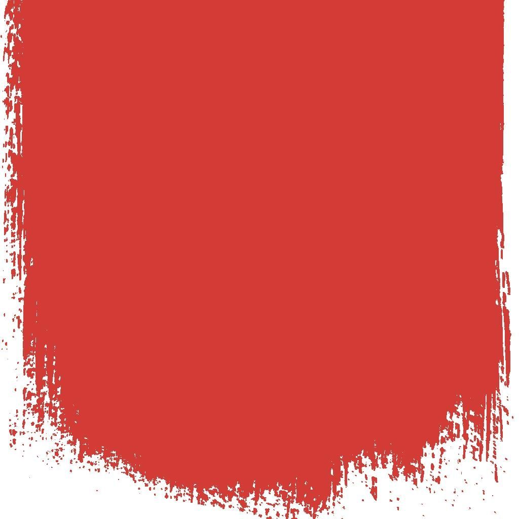 FLAME RED - NO 121 - PERFECT EGGSHELL PAINT - 1 LITRE