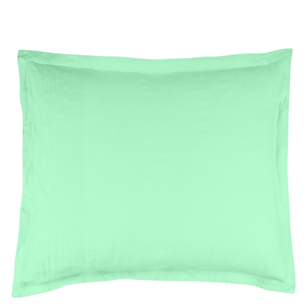 BIELLA  MINT / ALOE  EUROPEAN  PILLOWCASE  65X65CM