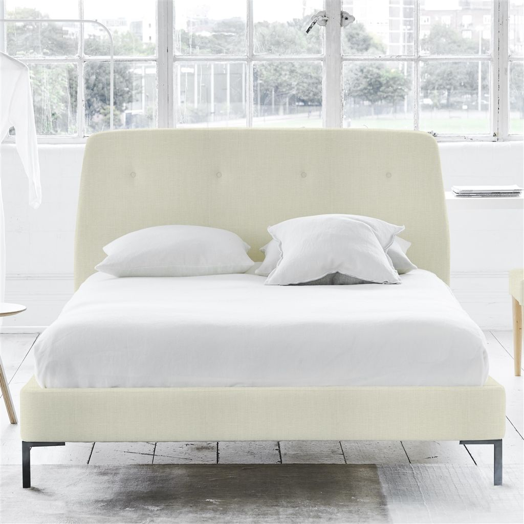 COSMO BED-SELF BUTTONS - SUPERKING - METAL LEG - ELRICK CHALK
