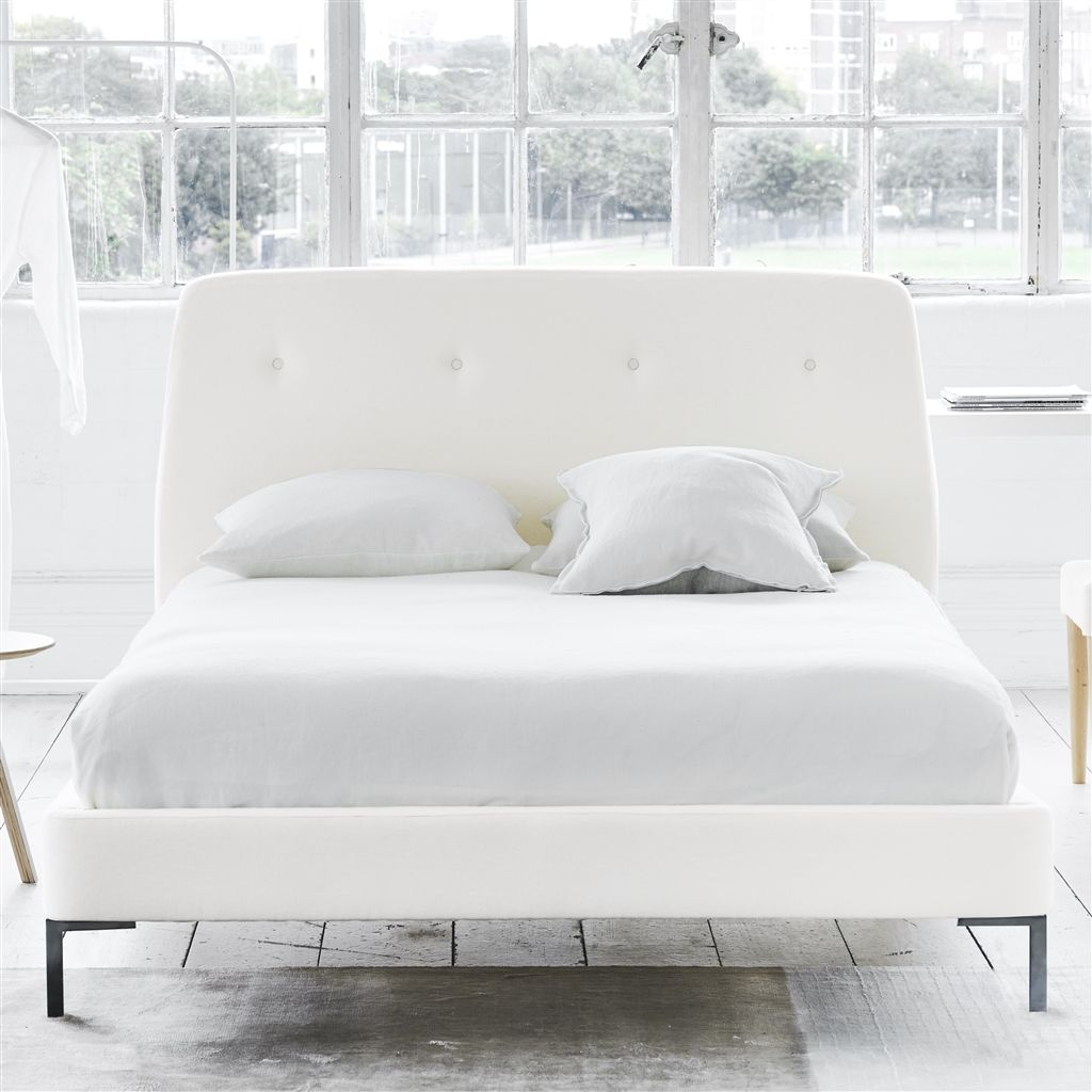 COSMO BED-SELF BUTTONS - KING - METAL LEG - BRERA LINO OYSTER