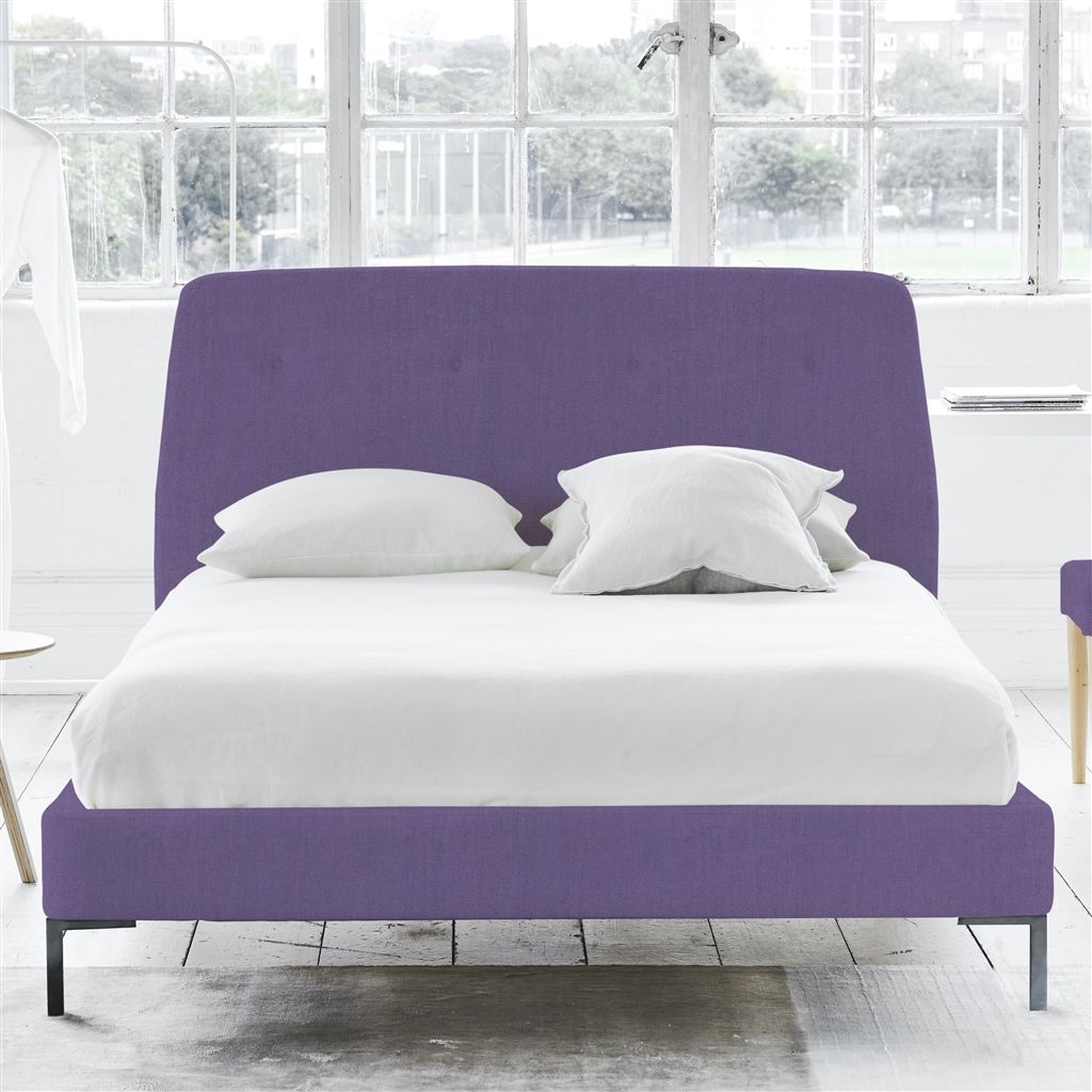 COSMO BED-SELF BUTTONS - SINGLE - METAL LEG - BRERA LINO VIOLET
