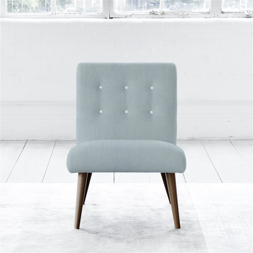 EVA CHAIR - WHITE BUTTONS - WALNUT LEG - BRERA LINO LAPIS