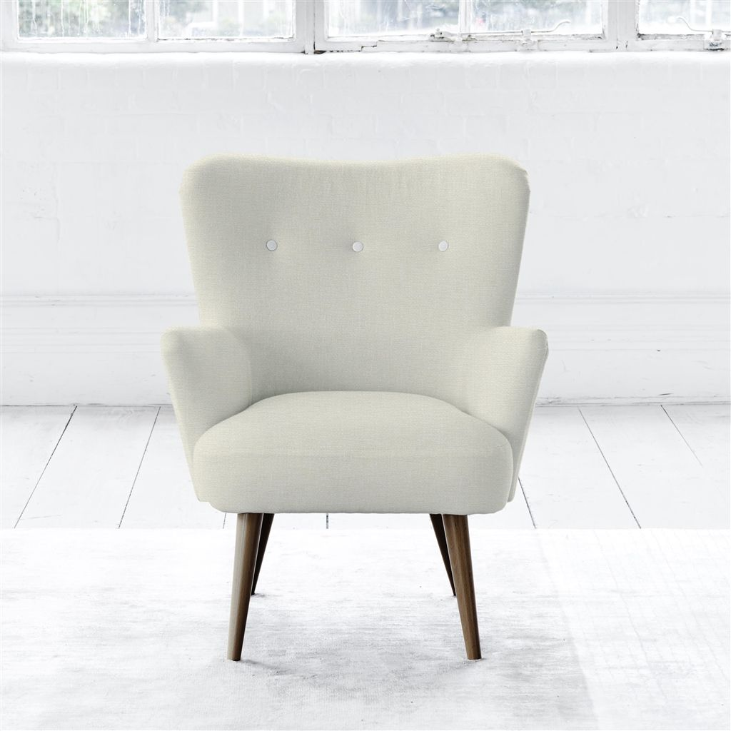 FLORENCE CHAIR - WHITE BUTTONS - WALNUT LEG - ELRICK ALABASTER
