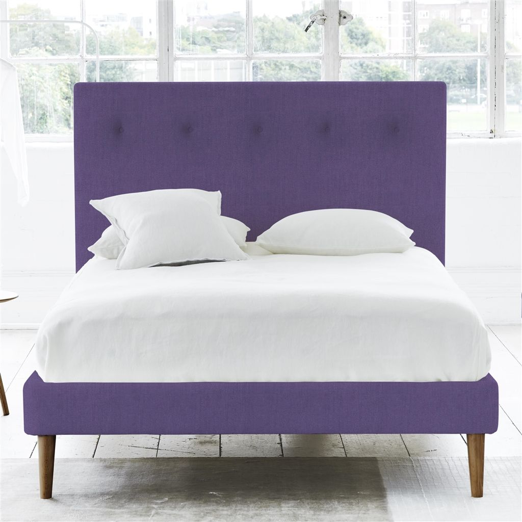 POLKA BED SELF BUTTONS - SINGLE - WALNUT LEG - BRERA LINO VIOLET