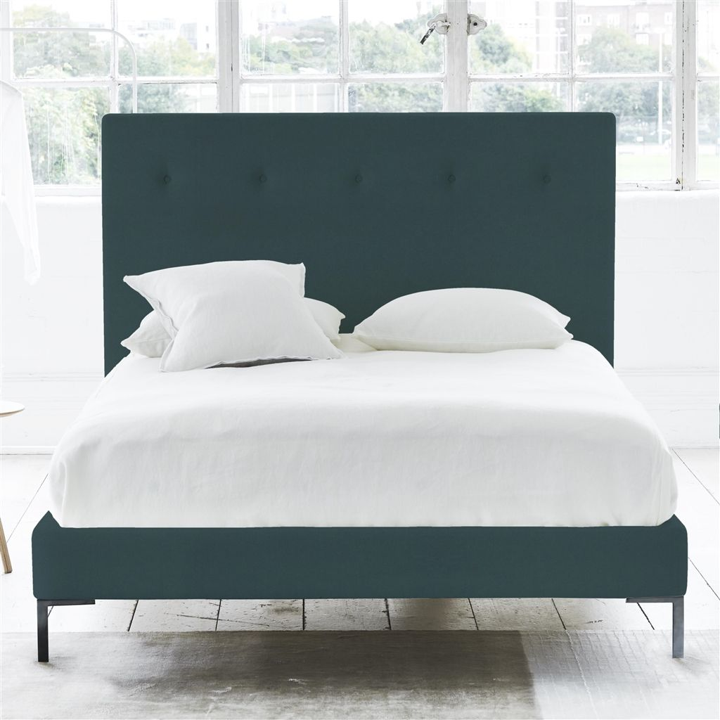 POLKA BED SELF BUTTONS - DOUBLE - METAL LEG - CASSIA KINGFISHER