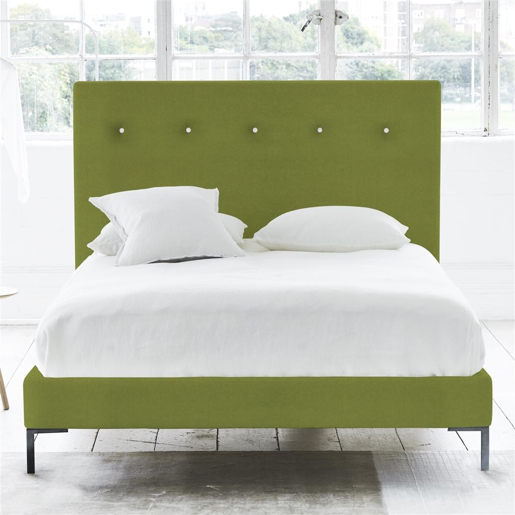 POLKA BED WHITE BUTTONS - KING - METAL LEG - CASSIA APPLE