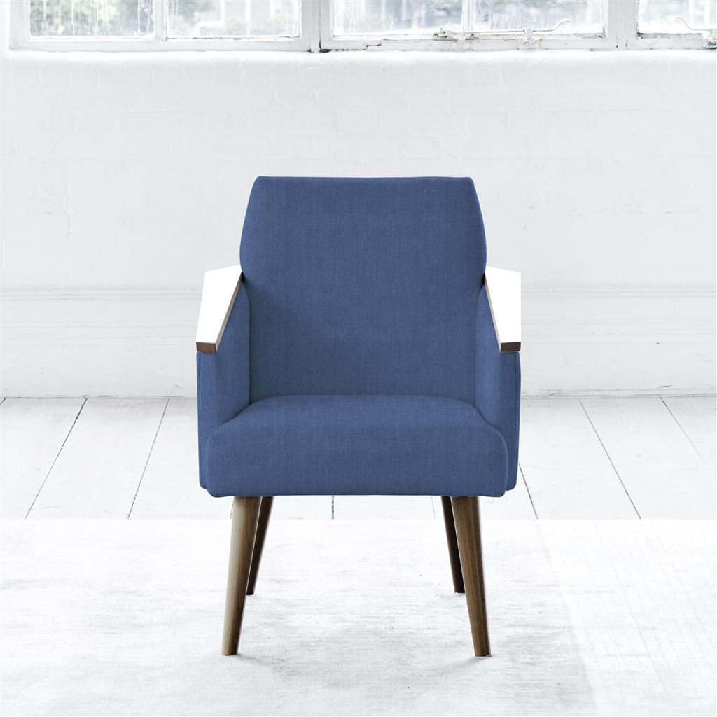 RAY CHAIR - WALNUT LEG - BRERA LINO MARINE