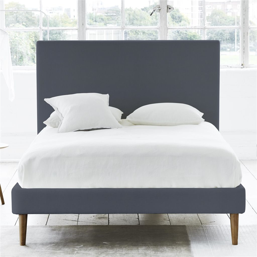 SQUARE BED - SUPERKING - WALNUT LEG - BRERA LINO DUSK