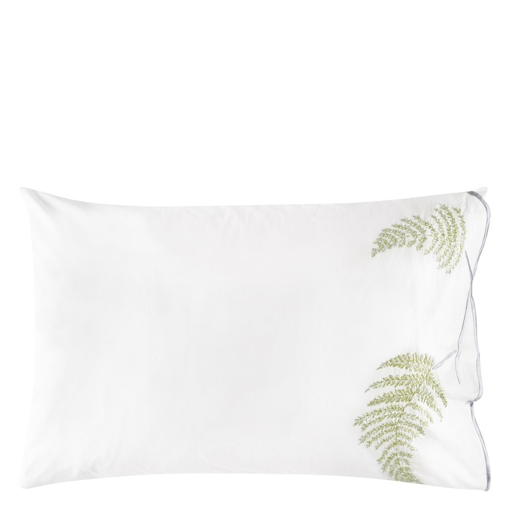 TULIPANI  GRAPHITE  EMBROIDERED STANDARD  PILLOWCASE  50X75CM