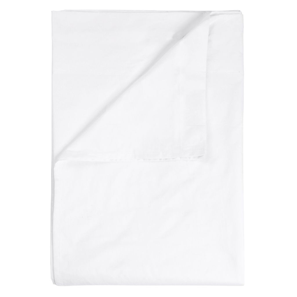 WHITE COLLECTION KING FITTED SHEET