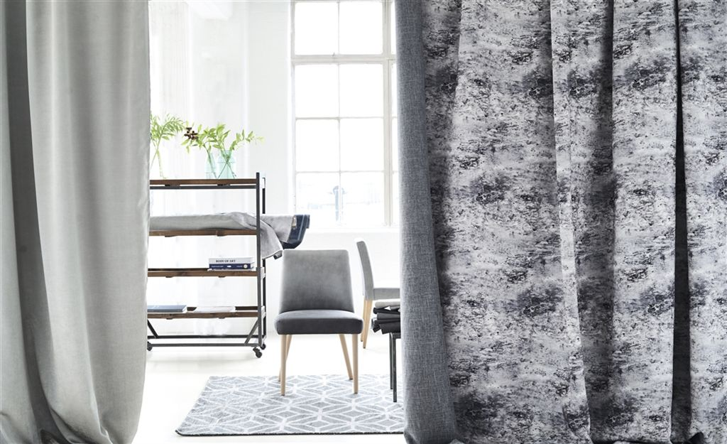 Canzo Fabrics Glamorous Flame Ant Dimout Curtain