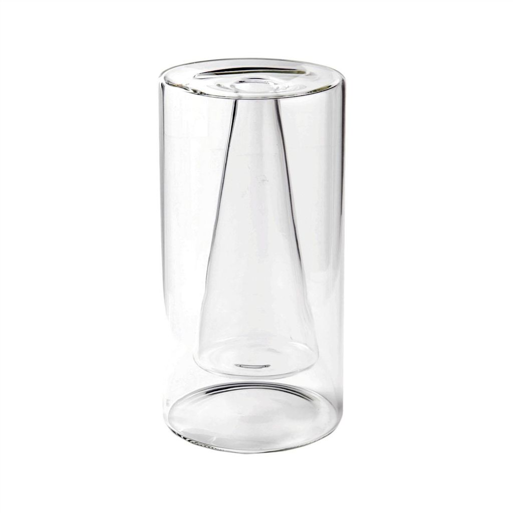 BEARCAN CONICAL TRANSPARENT VASE