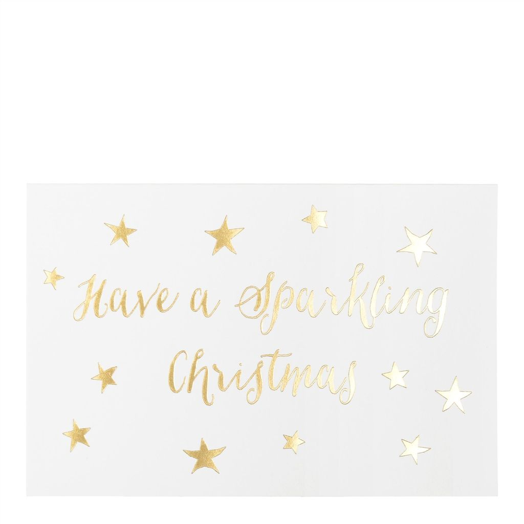 WHITE SPARKLING CHRISTMAS, CHARITY PACK OF 8 ROGER LA BORDE CHRISTMAS CARDS
