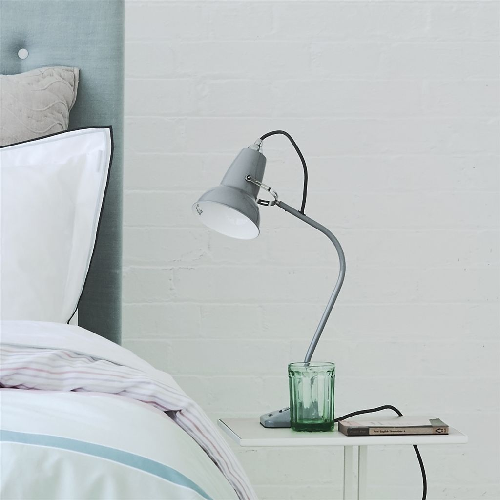 Picture of: Anglepoise Original 1227 Mini Desk Lamp Dove Grey With Grey Cable