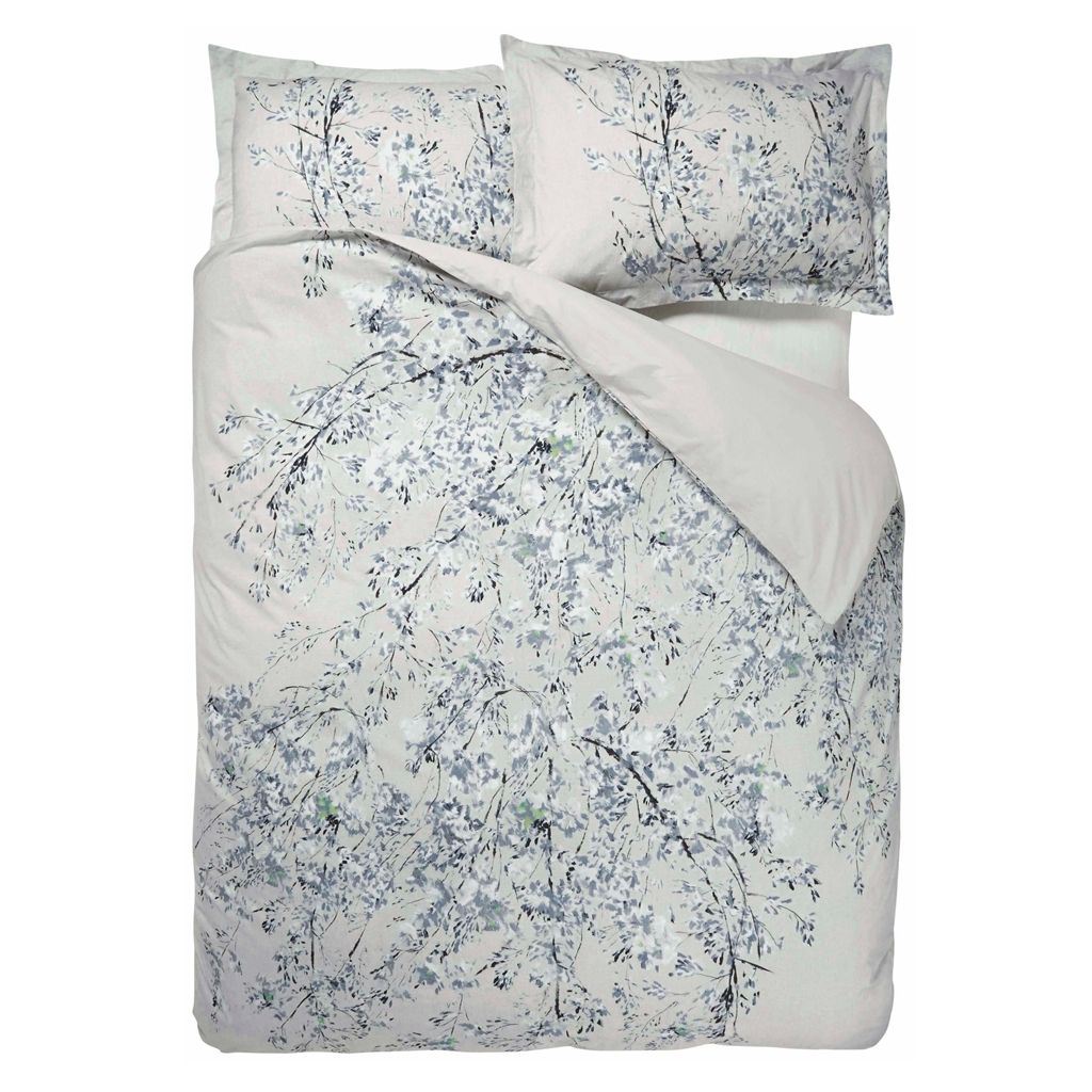 PLUM BLOSSOM GRAPHITE SINGLE DUVET SET 135X200CM