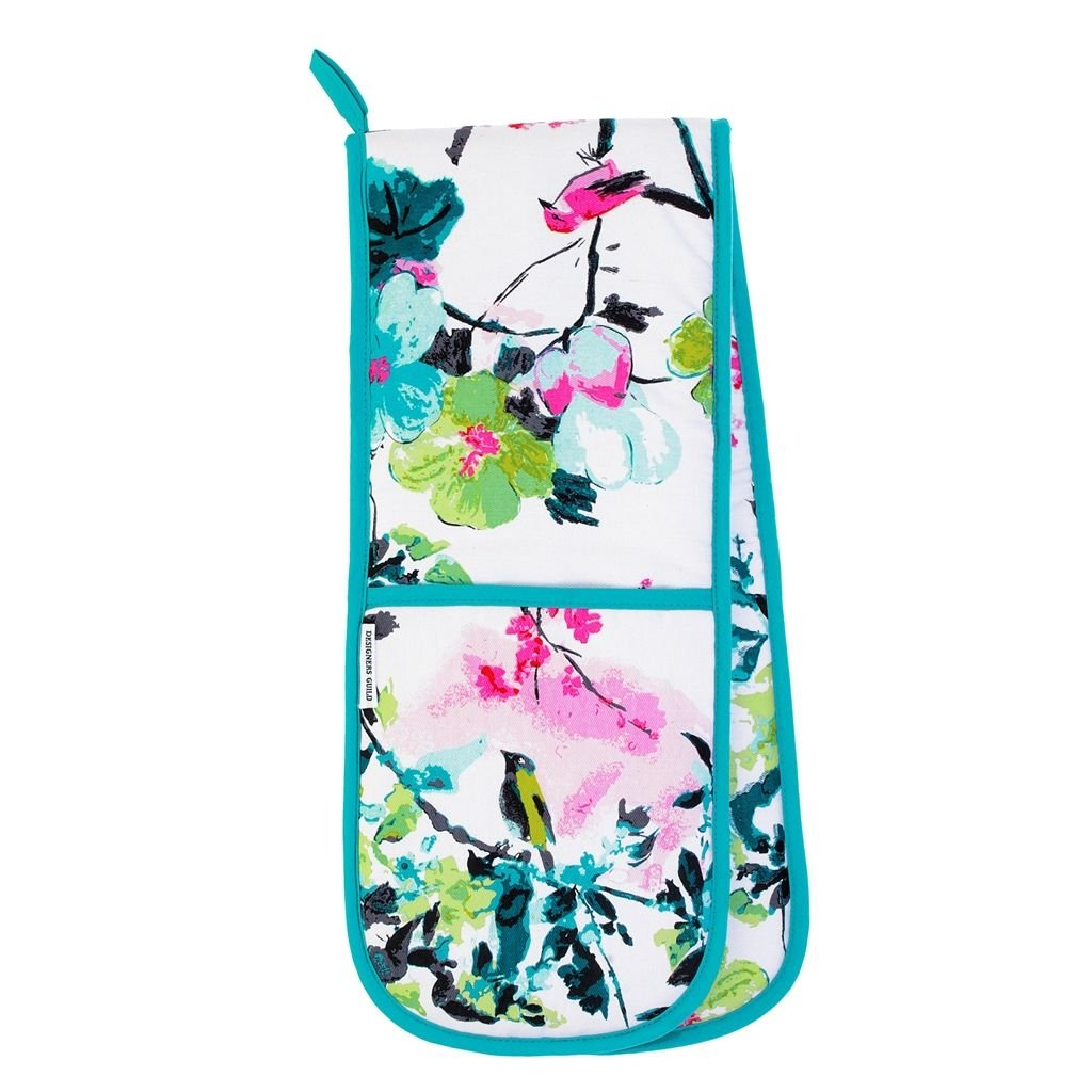 Chinoiserie Double Oven Glove Peony Oven Glove 88x18xcm